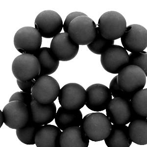 Acryl kralen 10mm matt black