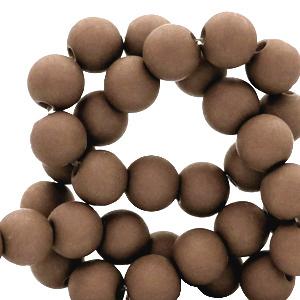 Acryl kralen 4mm coffee brown