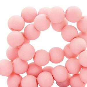 Acryl kralen 4mm matt salmon pink grootverpakking