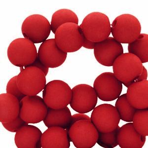 Acryl kralen 6mm crimson red