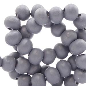 Houten kralen 6mm urben grey