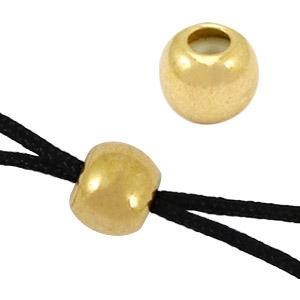 Macramé sluiting kraal 6mm goud