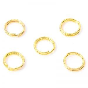 Splitringen 8mm goud